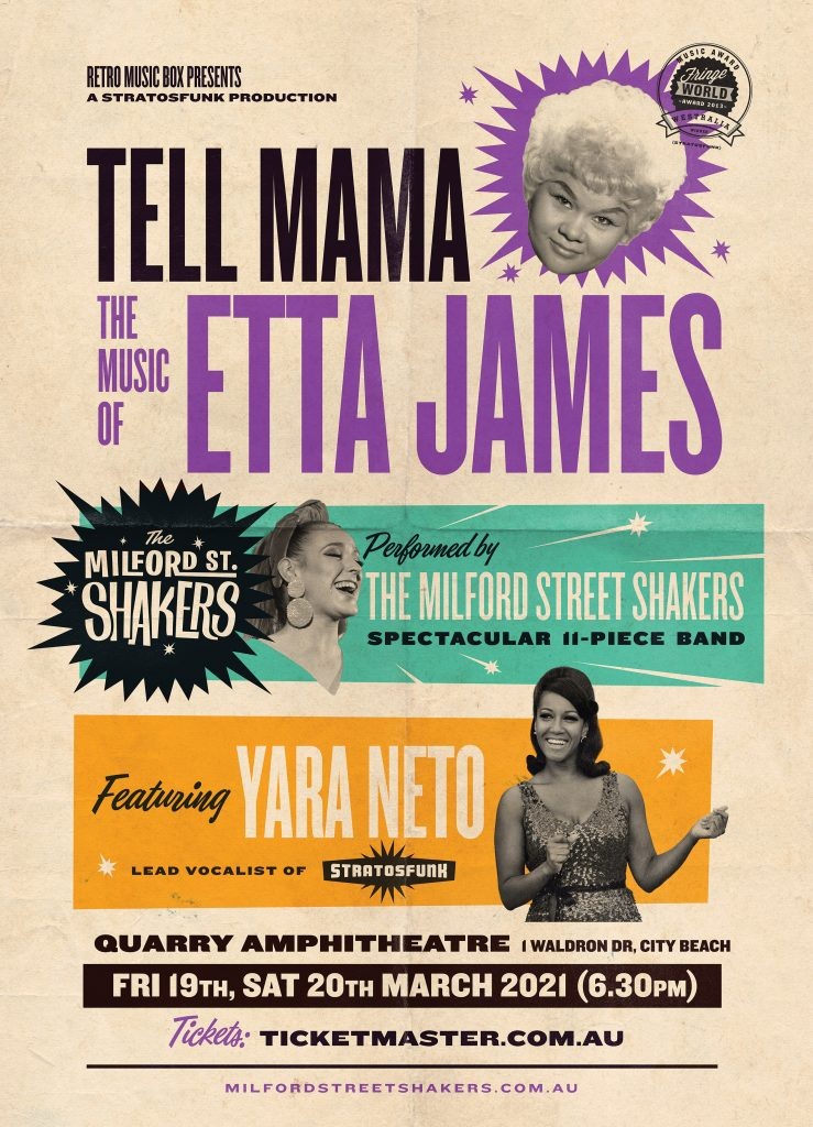 Tell Mama tribute concert Quarry Amphitheatre